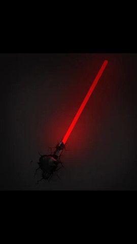 Luminária Star Wars Sabre De Luz Darth Vader 3d Light Fx VJ-R$290,00 / AT-R$280,00