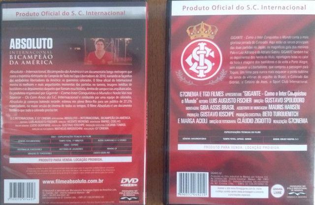 Dvds sobre a Conquista da Libertadores e Mundiall do Inter - Foto 2
