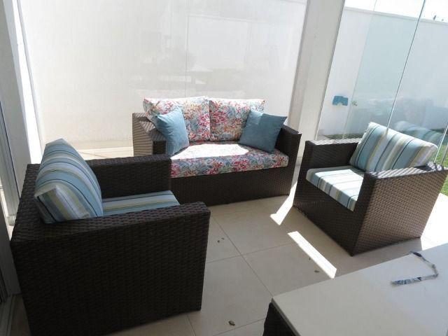Conjunto de sofá imperatriz em fibra sintética - Foto 2