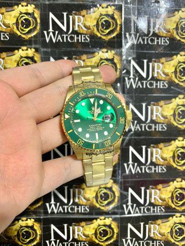Relogio Rolex verde automatico novo lacrado