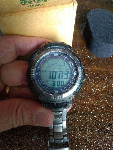 Casio Sport Pro Trek PRG80T vendo ou troco por Smartwatch de meu interesse - Foto 4
