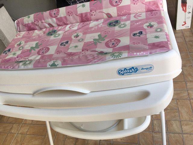 Banheira Splash Peixinhos Rosa - Burigotto com assento - Foto 2