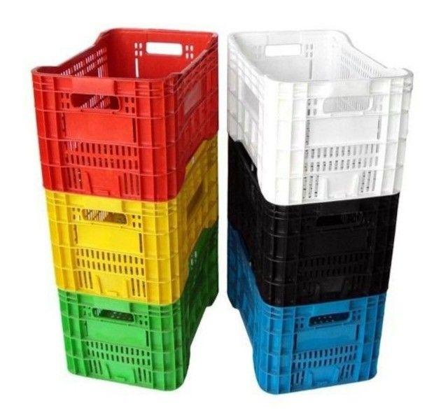 Caixa Plástica Hortifruti A70 Preta