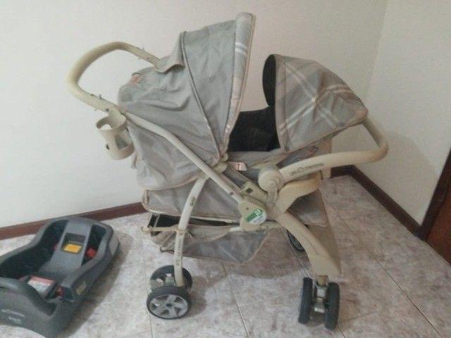 Carrinho de bebê e cadeirinha de carro - Foto 3
