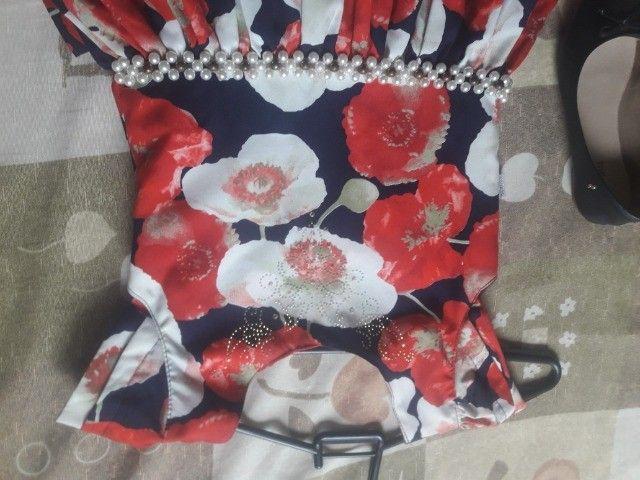 Kit Vestidos Menina tamanho 10 - Foto 2