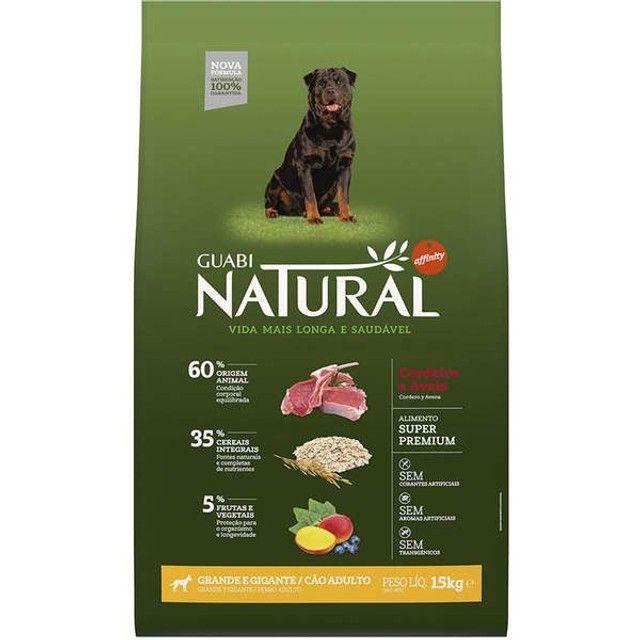Ração Guabi Natural Cordeiro e Aveia para Cães Adultos Raças Grande e Gigante 15 kg