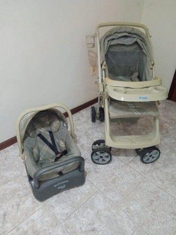 Carrinho de bebê e cadeirinha de carro - Foto 2