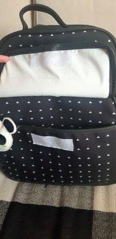 Kit bolsas maternidade (branco e preto) com chaveiro de panda - Foto 5