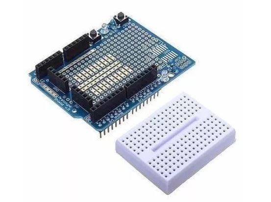 COD-AM130 Protoshield Para Arduino Uno + Mini Protoboard, Expansão Arduino Automação Ro