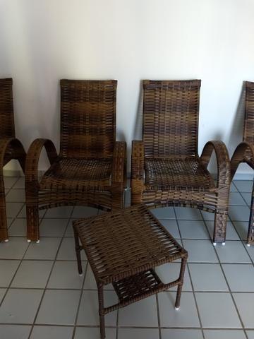 Kit Cadeiras Junco Sintético