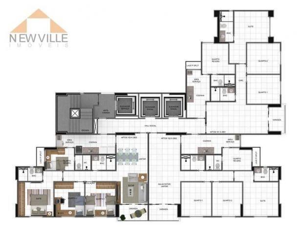 Apartamento com 3 quartos à venda, 84 m² por R$ 610.000,00 -próx.Rio Mar- Pina - Recife - Foto 17