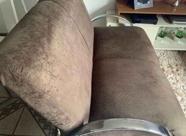 Sofá marrom em ótimo estado - Foto 2