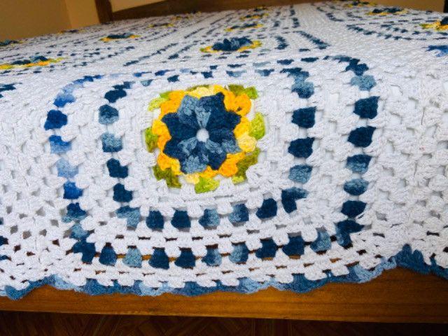 Colcha de crochê de casal - Foto 6