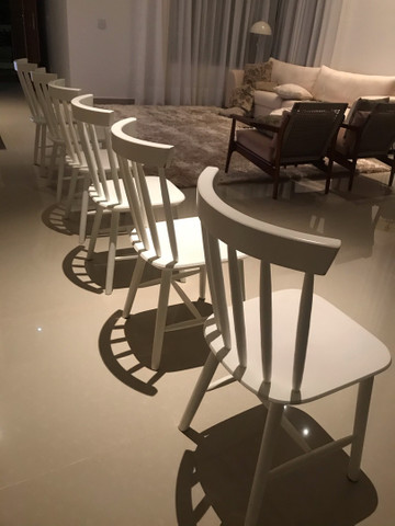 Cadeiras Tokstok madeira branca  - Foto 3