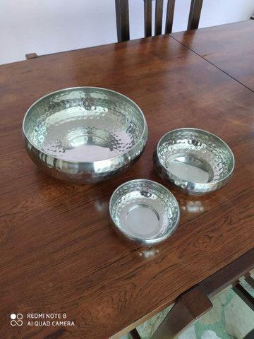 4 potes decorativos de aço inox - Foto 2