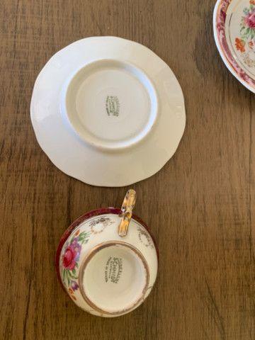Jogo de xícaras porcelana schmidt antiga - Foto 4
