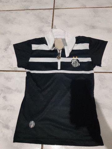Camiseta do Santos feminino tamanho - m Passa cartão até 3x 20  - Foto 2