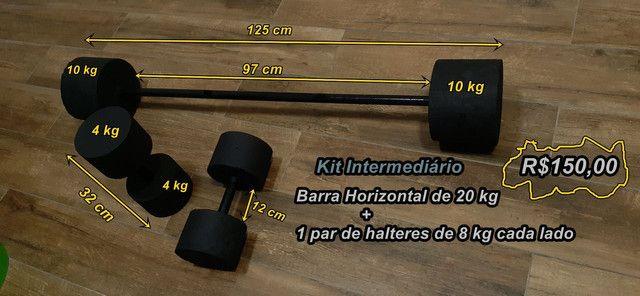 Halteres e Barras Supinos (Aceito Cartão) - Foto 3