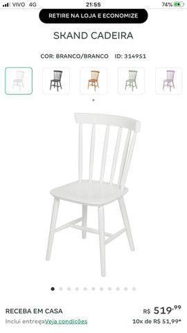 Cadeiras Tokstok madeira branca  - Foto 4