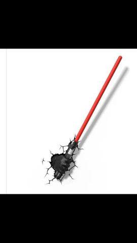 Luminária Star Wars Sabre De Luz Darth Vader 3d Light Fx VJ-R$290,00 / AT-R$280,00 - Foto 2