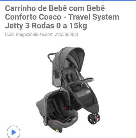 Carrinho de passeio infantil + bebê conforto  - Foto 2