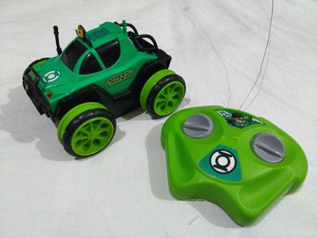 Carro Controle Remoto Liga Da Justiça Lanterna Verde Candide