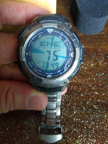 Casio Sport Pro Trek PRG80T vendo ou troco por Smartwatch de meu interesse - Foto 3