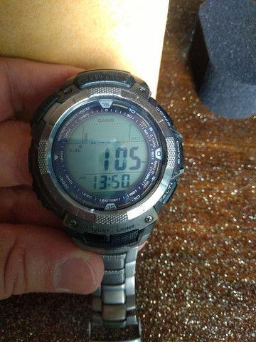 Casio Sport Pro Trek PRG80T vendo ou troco por Smartwatch de meu interesse - Foto 5
