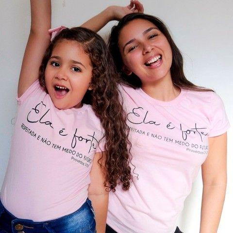 T-shirt mãe e filha