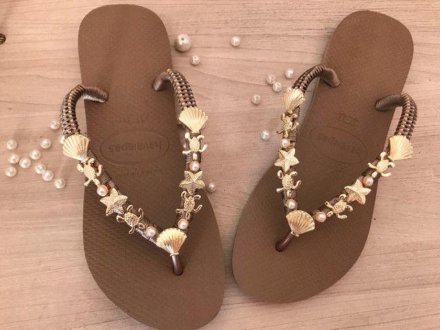 Sandálias customizadas  - Foto 4