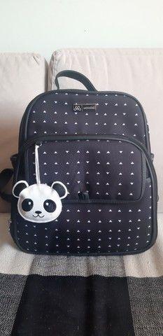 Kit bolsas maternidade (branco e preto) com chaveiro de panda - Foto 4