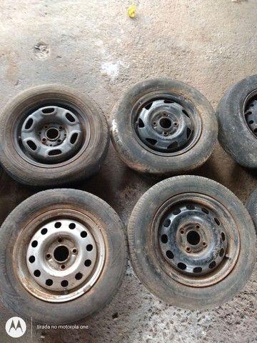Rodas estepe estep pneus - Foto 2
