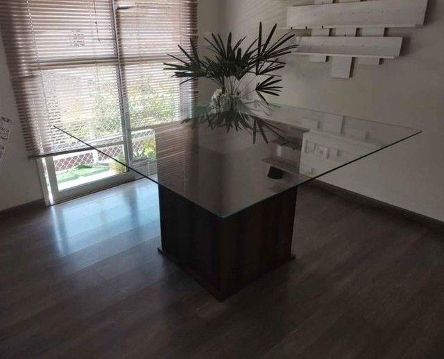 Mesa tampo de vidro 8mm