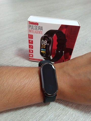 Relógio Smartwatch Tomate Bluetooth MTR-33 Preto - Foto 6
