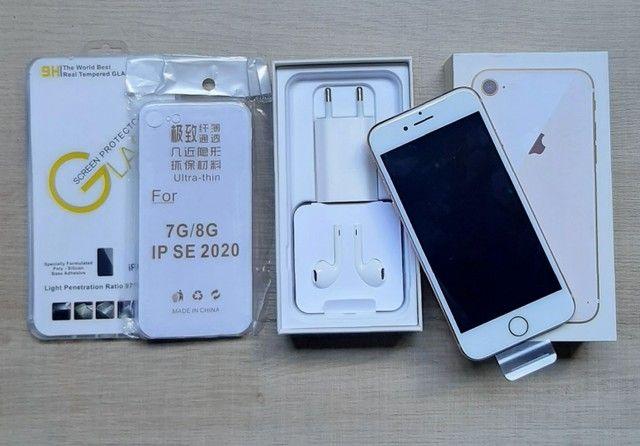 IMPERDÍVEL! iPhone 8 GOLD 64GB Com todos os acessórios + Brindes! - Foto 2