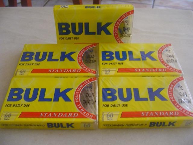 Fitas K7 Cassete bulk 60min. type Normal sem uso Lacradas