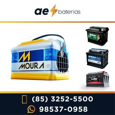 Bateria 100Ah, ideal para som, van, caminhão