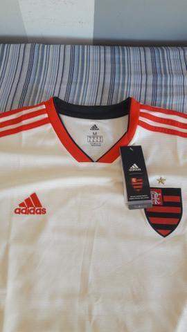 Camisa Flamengo II 2018 s n° Torcedor Adidas Masculina - Off White e  Vermelho ee7f6b6b4ef7f