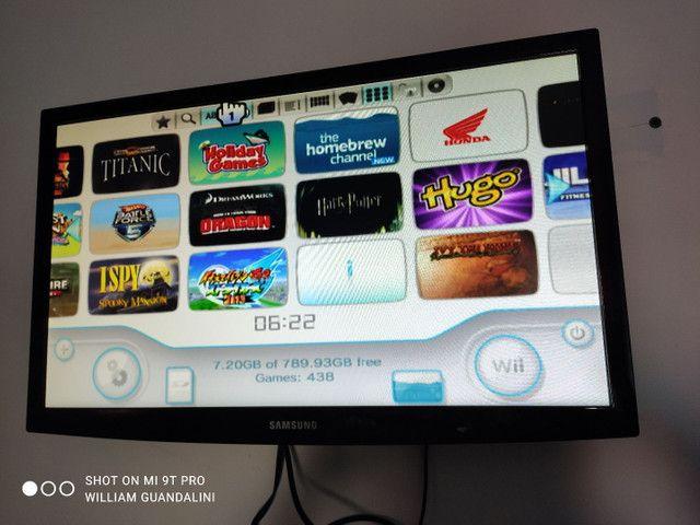 Nintendo Wii 1tb hdd externo HDMI SD completo 438 jogos wii - Foto 6