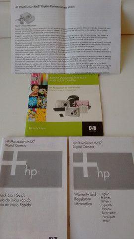 Máquina fotográfica digital, marca HP, modelo Photosmart M627. Resolução de 7,0 MP - Foto 4