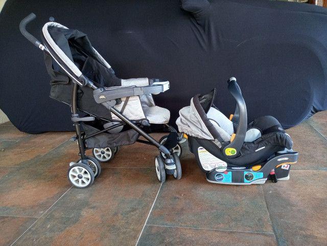 Carrinho + bebê conforto Chicco com isofix - Foto 6
