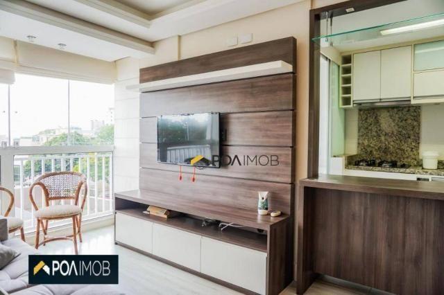 Apartamento com 2 dormitórios para alugar, 60 m² por R$ 2.652,00/mês - Cristo Redentor - P - Foto 7