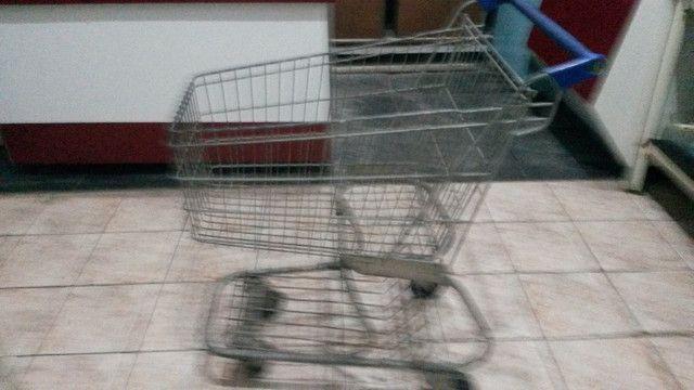 Carrinho de compras mercado fruteira mercearia - Foto 2