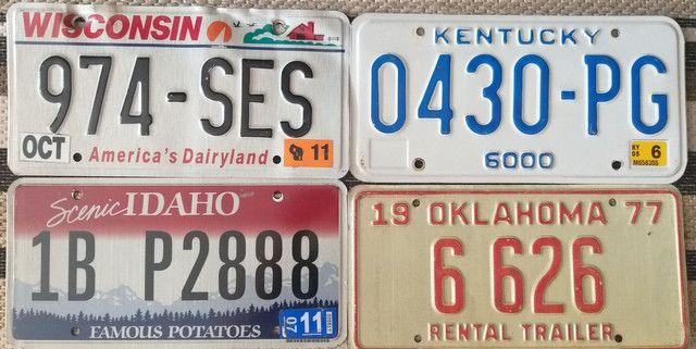 Placas de carro originais Estados Unidos USA - Foto 4
