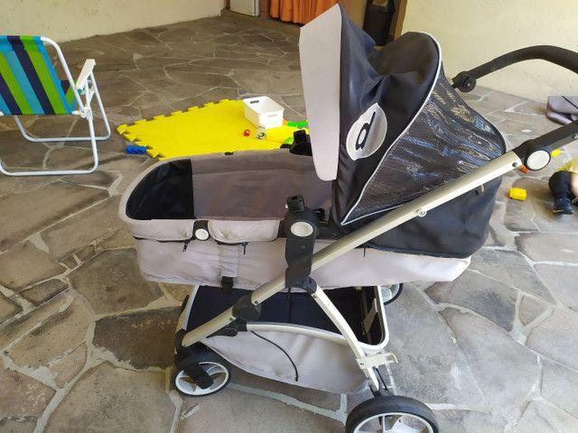Carrinho Galzerano com Moises + Bebê Conforto - Foto 5