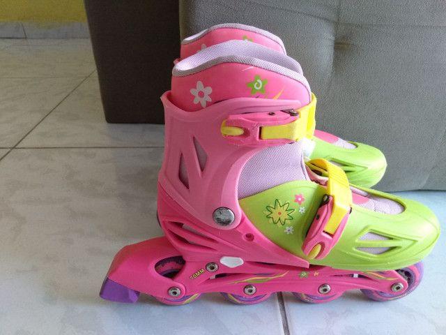 Patins Roller In-Line feminino - Foto 4