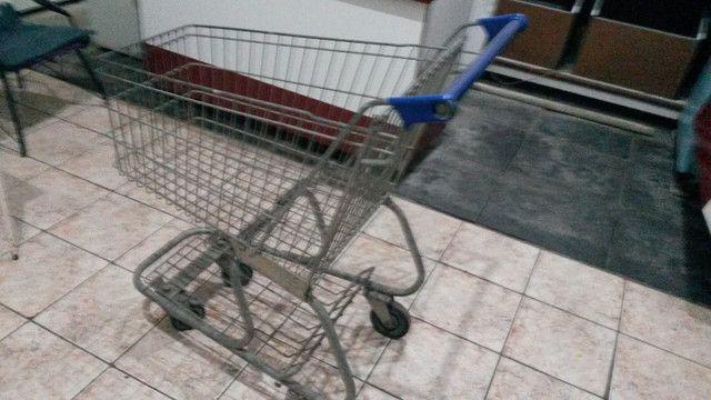 Carrinho de compras mercado fruteira mercearia - Foto 3