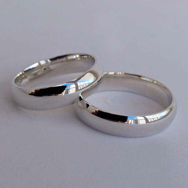 Alianças de prata 950 * leia anúncio *
