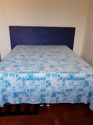 Cabeceira de cama em mdf 18mm estofada em espuma e tecido suede. R$80,00