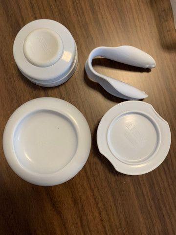 Bomba de tirar leite manual extrator - Foto 3